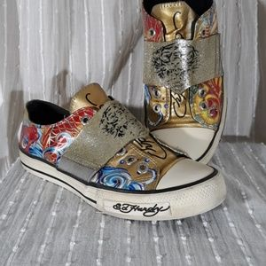 Ed Hardy Designs Laceless Sneakers